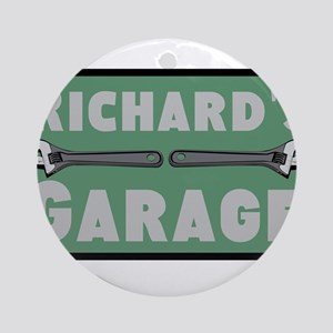 Personalized Garage Round Ornament
